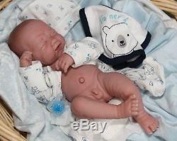 I'M NEW BABY BOY! Crying PREEMIE Berenguer LifeLike Reborn Pacifier Doll +Extras