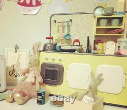 Maileg Kitchen Metal Mini Cupboard With Cookware Sink B-day Xmas Gift Doll Decor