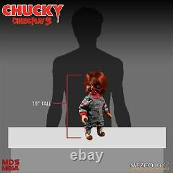Mezco Toyz Mega Childs Play 3 Talking Pizza Face Chucky Doll 15 Figure WC78020