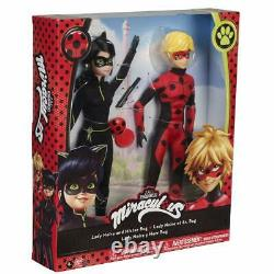Miraculous Ladybug LADY NOIRE and MISTER BUG Doll EXCLUSIVE Set Noir 2021