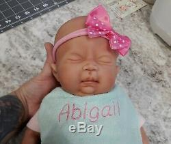 NEW 16 Preemie Full Body Silicone Baby Girl Doll Abigail