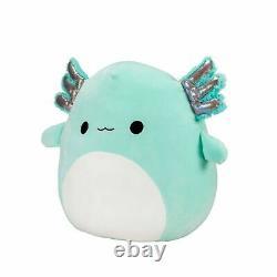 NEW Squishmallow 16 Plush Axolotl Teal Green Anastasia Kellytoy Doll Pillow XL