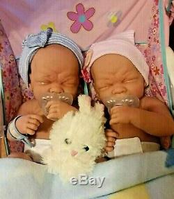 Precious Preemie Twins Boy And Girl Realistic Babies Have Pacifiers