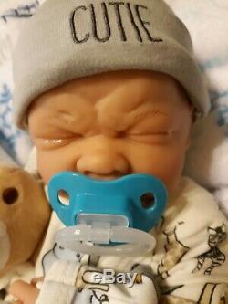 Preemie First Tears Baby Boy Doll Real Boy With Baby Extras Takes A Pacifier
