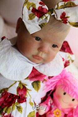 Realistic 7lbs Reborn Toddler Donna Rubert 25 Crystal Sunbeambabies Baby Doll
