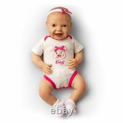 Realistic Baby Katelyn Kinby Doll with Bottle & Pacifier Ages 3+ Assembled in USA