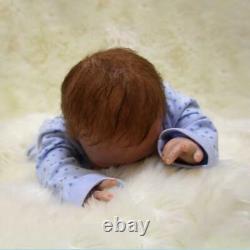 Realistic Reborn Newborn Boy Doll 22 Handmade Vinyl Silicone Baby Dolls Xmas