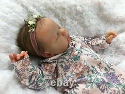 Reborn Baby Art Doll Girl Authentic Reborn Ruby By Cassie Brace Micro Rooted