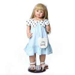 Reborn Toddler Girl Full Vinyl Standing 28inch Realistic Masterpieces Baby Dolls