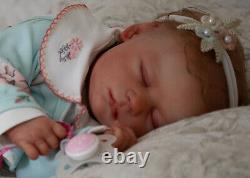 Reborn baby Realborn Marnie Sleeping Female Full Front Plate included