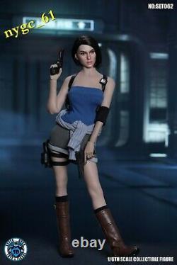 SUPER DUCK 1/6 Resident Evil Female Policeman Head & Suit C026 fit 12'' PH Doll