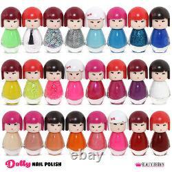 Set of 24 Nail Polish Kimono Baby Doll Shape 24 Different Colours Gift Box UK