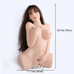 Sex Doll Torso Full Solid Silicone 3 holes Masturbation Adult toy for Male