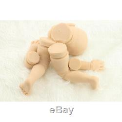 Soft Tin Silicone DIY Reborn Doll Kits Head 3/4 Limbs for 20'' Reborn Baby Doll