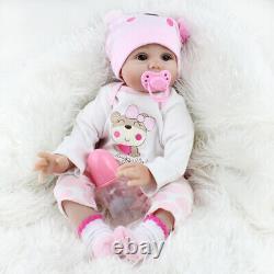 Twins Reborn Baby Dolls 22 Realistic Vinyl Silicone Handmade Newborn Girl Doll