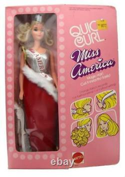 Vintage 1972 Quick Curl Miss America Barbie Doll Steffie Face, Mattel #8697 NIB