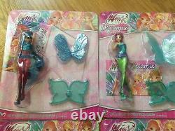 Winx Club Dreamix Power dolls Set 6 mini 3D Figurines Figures NEW series