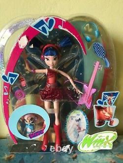 Winx club Mattel Musa Pixie 2005 Rare Doll Bambola Puppe NRBF
