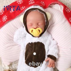 Xmas Special Price IVITA 18 Full Body Filled Silicone Doll Closed Eyes Boy Baby