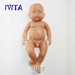 16'' Full Body Soft Silicone Reborn Doll Réaliste Nouveau-né Nouveau-né Bébé Xmas Cadeau Jouet