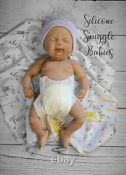 16 Preemie Full Body Silicone Baby Girl Doll Abigail