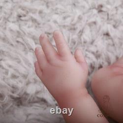 18.5 En Full Soft Platinum Silicone Poupées Bébés Faites Main Nouveau-né Poupée Fille