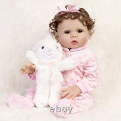 18 Reborn Poupées Bébé Corps Complet Silicone Vinyl Nouveau-né Bébés Toy Girl Doll Cadeau