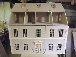 1/12 Échelle Poupées Dalton House 7 Chambre Maison De Poupées 3ft Large Kit Par Dhd
