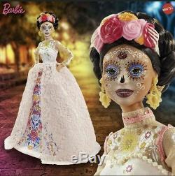 2020 Barbie Dia De Los Muertos Jour Des Morts Dotd 2 Rose Doll Nouveau Preorder
