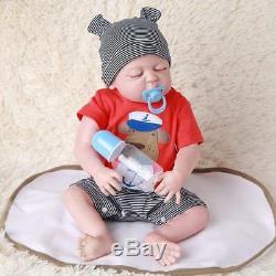 22 Bathable Lifelike Réincarné Bébé Poupées Tout-petits Boy Full Body Silicone Bebe Cadeau