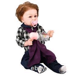 22 Bébé Nouveau-né Réaliste Soft Full Body Silicone Reborn Doll Boy Cadeau D'anniversaire