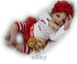 22 ' ' Lifelike Baby Doll Nouveau-né En Silicone Souple Reborn Poupées Et Jouets Vêtements Pour Enfants Cadeaux