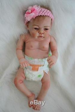 22 '' Real Lifelike Baby Doll Réincarné Full Body En Silicone Vinyle Nouveau-né Poupées Fille