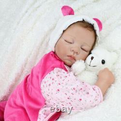 22'' Reborn Baby Dolls Handmade Lifelike Newborn Silicone Vinyl Belly Doll Cadeaux