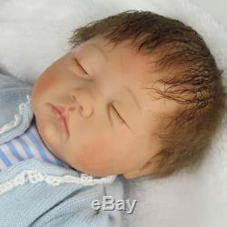 22' Twins Bébé Reborn Poupées Bébés Nouveau-nés Vinyle Silicone Main Poupée Fille + Garçon