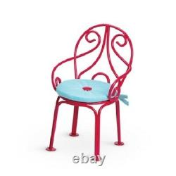American Girl Doll Grace's Bistro Set Table Menu Chaise + Plus Expression