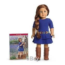 American Girl Saige Doll Et Livre + Ring Poupée De L'année 2013 Même Jour Sage Ship