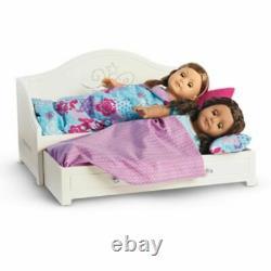 American Girl Trundle Bed Et Bedding Set Pour Poupées Truly Me Nouveau Daybed Blanc