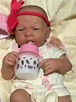 Aww! C'est Baby Girl! Berenguer Life Like Reborn Preemie Pacifier Doll +extras