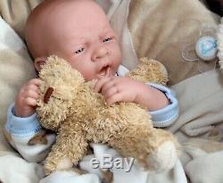 Aww Top Dog! Baby Boy Preemie Berenguer Life Like Doll + Sucette Réincarné Extras