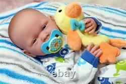 Baby Boy Doll Nouveau-né Reborn 15 Pouces Real Alive Soft Vinyl Preemie Lifelike