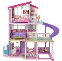 Barbie Dreamhouse Dollhouse Avec Piscine, Slide Et Ascenseur Jouer Ensemble Avec 70 + Jouets
