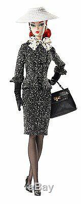 Barbie Noir Et Blanc Costume En Tweed Silkstone Poupée Barbie Menthe