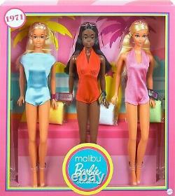 Barbie Signature Malibu Barbie & Amis Vintage Reproduction Coffret Cadeau 2021