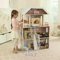 Barbie Taille Dollhouse En Bois Meubles Doll Filles Playhouse Play House 13pc Nouveau