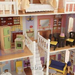 Barbie Taille Dollhouse Meubles Filles Playhouse Dream Jouer En Bois Doll House Nouveau