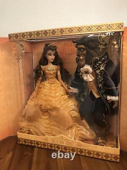 Beauty And The Beast Disney Limited Edition Platinum Doll Set 17 Pouces Le 500