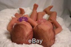 Bébé Corps Entier Silicone Poupée Reborn Twins Anatomiquement Correctes Filles 18 Personnalisées