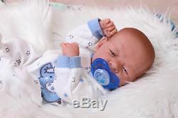 Bébé Real Boy Toy Prématuré Reborn Nouveau-né 15 Du Nouveau-né En Vinyle Souple Life Like