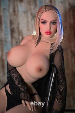 Big Boob Tpe Adult Toys Full Body With Metalskeleton Sex Doll For Men Tan Skin
